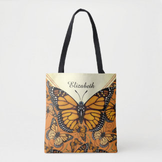 Monarch Butterfly Personalized Tote Bag