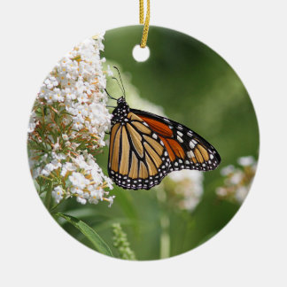 Monarch butterfly profile ceramic ornament