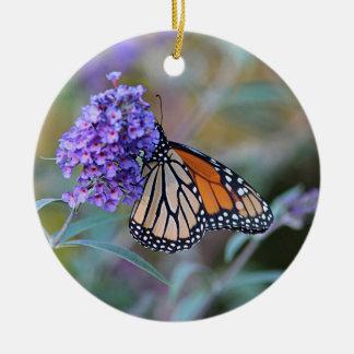 Monarch butterfly profile ceramic ornament