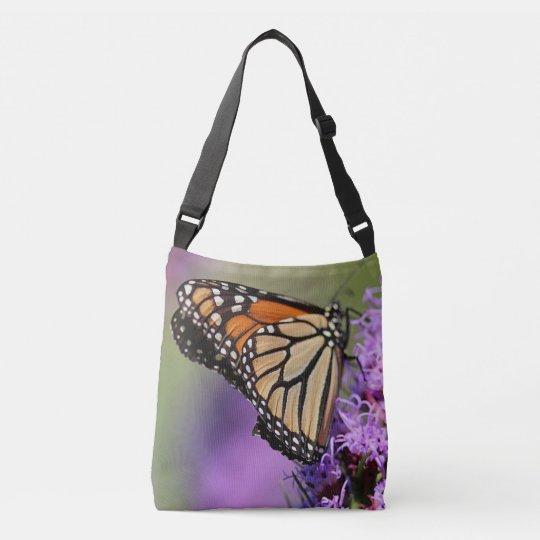Monarch butterfly profile crossbody bag