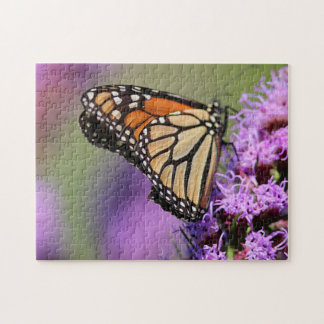 Monarch butterfly profile jigsaw puzzle