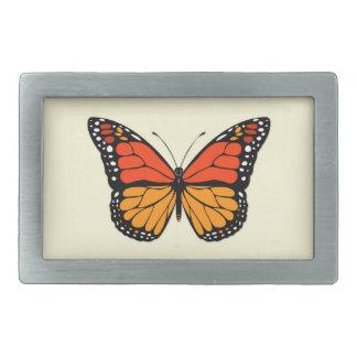 Monarch butterfly rectangular belt buckle