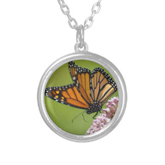 Monarch Butterfly Round Necklace