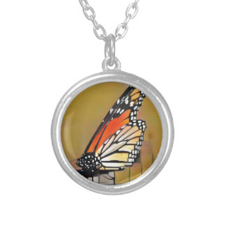 Monarch Butterfly Silver Plated Necklace