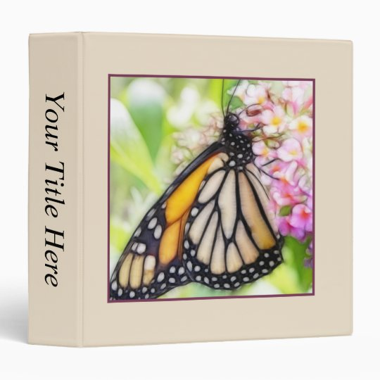 Monarch Butterfly Sipping Nectar Vinyl Binders
