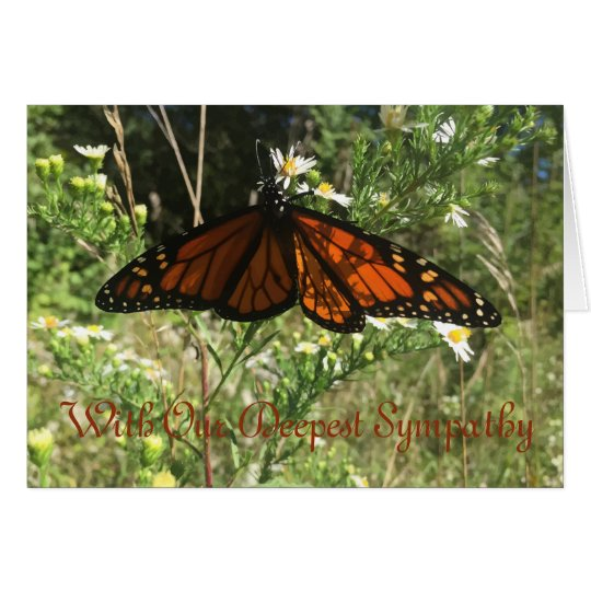 Monarch Butterfly. Sorry for your loss. Card