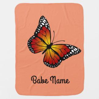 Monarch Butterfly Swaddle Blanket