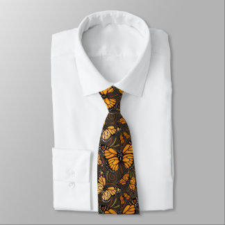 Monarch Butterfly Swirl Tie