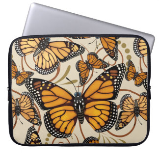 Monarch Butterfly Swirls Computer Sleeve