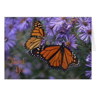 Monarch Butterfly Thank You Card
