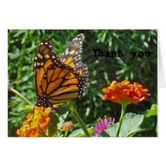Monarch Butterfly Thank You Given Wings to Fly Card