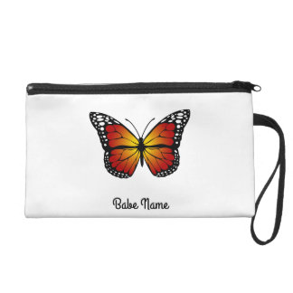 Monarch Butterfly Wristlet Purse