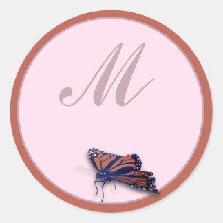 Monarch Classic Round Sticker
