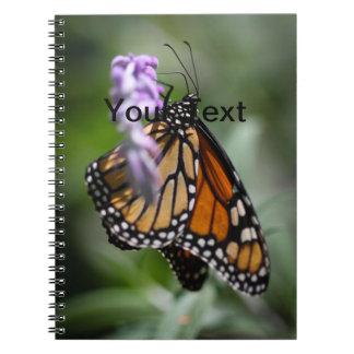 Monarch Danaus Plexippus Spiral Note Books