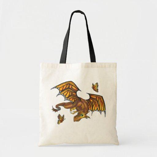 Monarch Dragon butterfly big eye fantasy art bag
