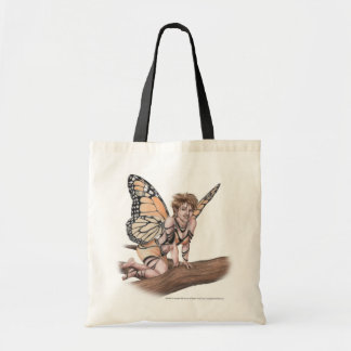 Monarch Faerie Tote Budget Tote Bag