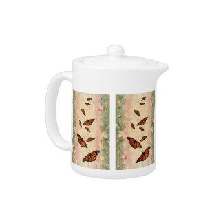 Monarch Garden Teapot