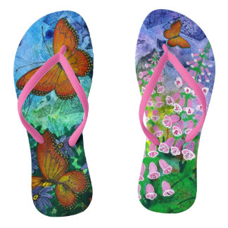 Monarch Haven Flip Flops