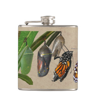 MONARCH LIFE CYCLE HIP FLASK