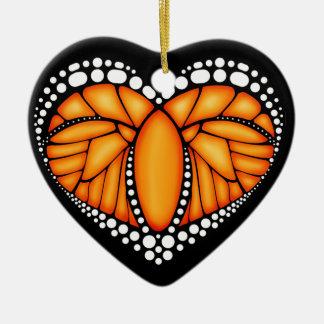 Monarch Love Ceramic Ornament