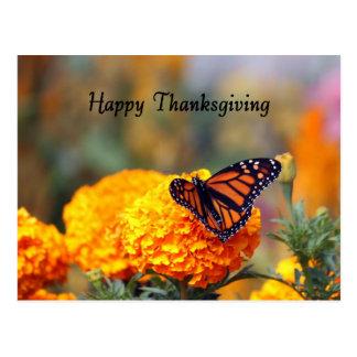 Monarch Marigold Thanksgiving Postcard