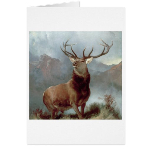 Monarch of the Glen, 1851 Greeting Cards