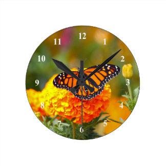 Monarch on a Marigold Clock