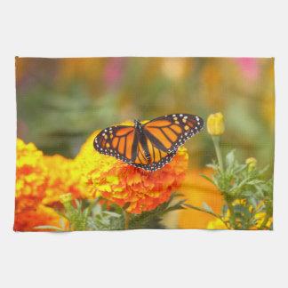 Monarch on a Marigold Kitchen Towel