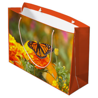 Monarch on a Marigold Large Gift Bag