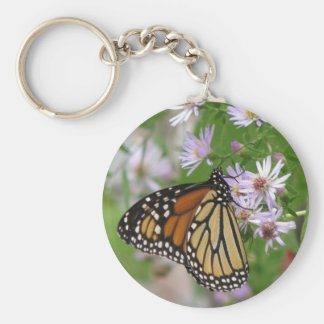 Monarch on Aster Keychain