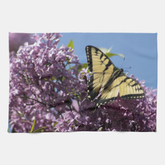 Monarch on Butterfly Bush Hand Towels