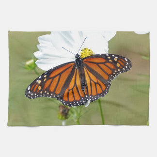 Monarch on Cosmos Hand Towels