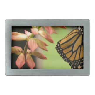 Monarch on Flower Belt Buckle