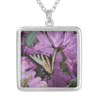 Monarch on Rhododendron Pendant Necklace