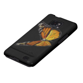 Monarch Orange Butterfly Flying Insect Galaxy SII Cases