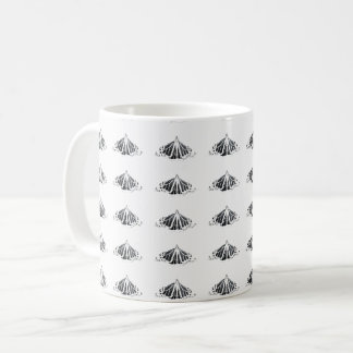 Monarch outline all around coffee mug
