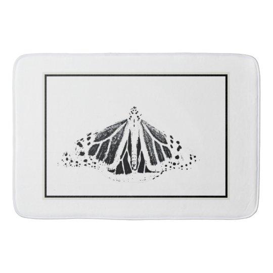Monarch outline bath mat