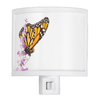 Monarch perched on lavender nite lights