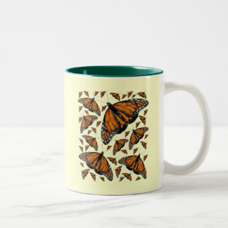Monarch Rain Two-Tone Coffee Mug
