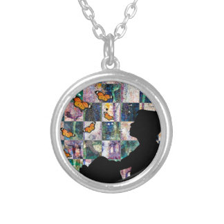 MONARCH TIME SILVER PLATED NECKLACE