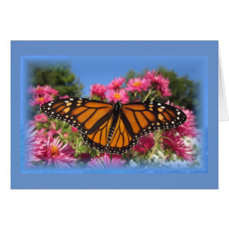 Monarch Wings - with blue vignette Card