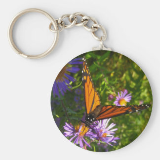 monarch with flwoers keychain