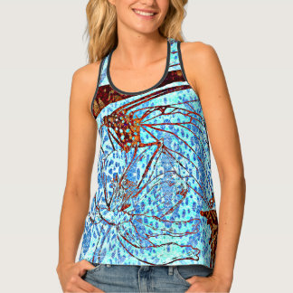 Monarchs and Blue Tank Top
