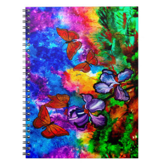 Monarchs at Sunset 6.5 x 8.75 Notebook