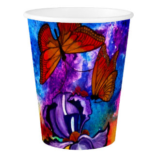 Monarchs at Sunset Paper Cups Paper Cup