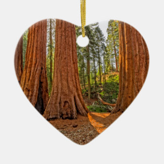 Monarchs of the Forest Ceramic Heart Ornament