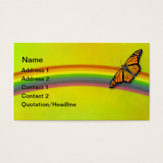 Monarchs & Rainbows Customizable Business Cards