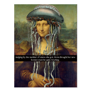 """Mona's New Bonnet"" Postcard"