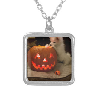 MONA'S PUMPKIN SILVER PLATED NECKLACE