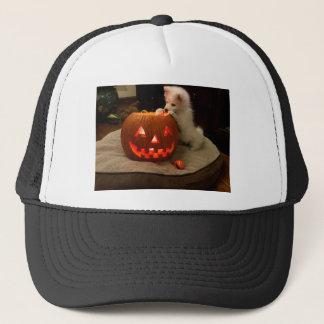 MONA'S PUMPKIN TRUCKER HAT